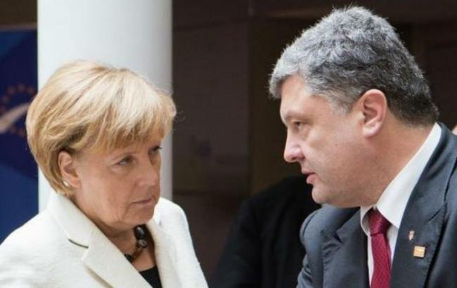 Фото: Ангела Меркель і Петро Порошенко