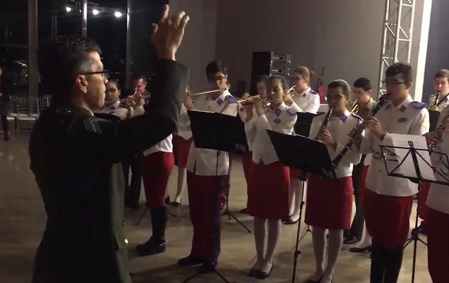 В Бразилии военный оркестр исполнил гимн Украины