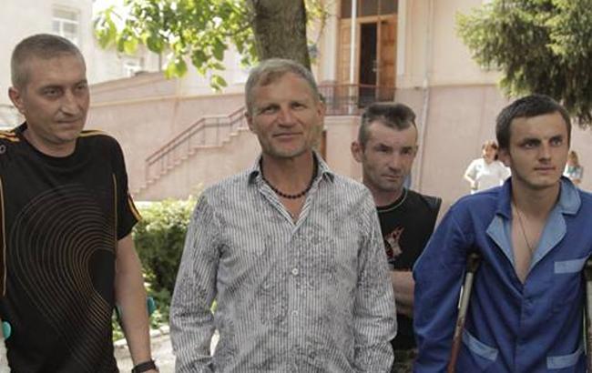 Олег Скрипка встретился с ранеными бойцами АТО