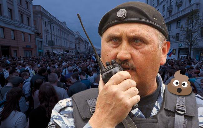 Сергей Кусюк, судя по всему, устроился на работу в российский ОМОН В  понедельник, 12 июня, антикоррупционный митинг в Москве в составе  подразделения ... 0106e6f6d19