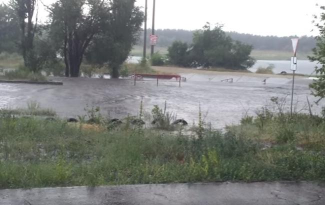 Ураган на Донбасі (Скріншот з YouTube)