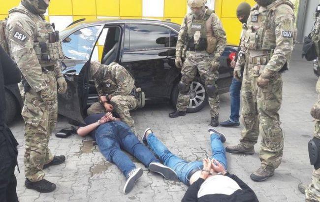 Фото: задержание (пресс-центр СБУ)