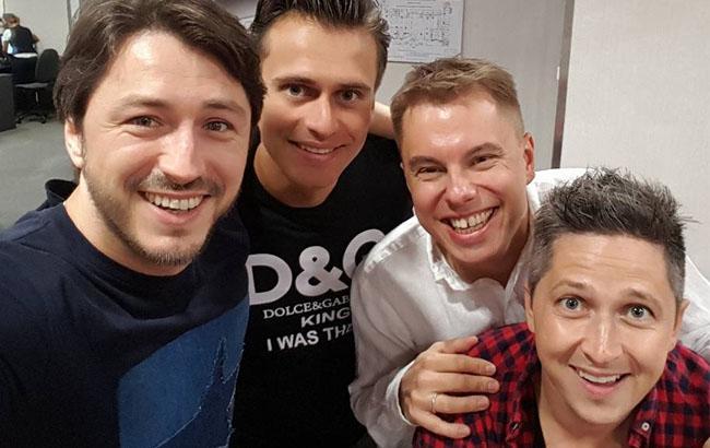 Фото: Сергей Притула с коллегами (facebook.com/serhiyprytula)