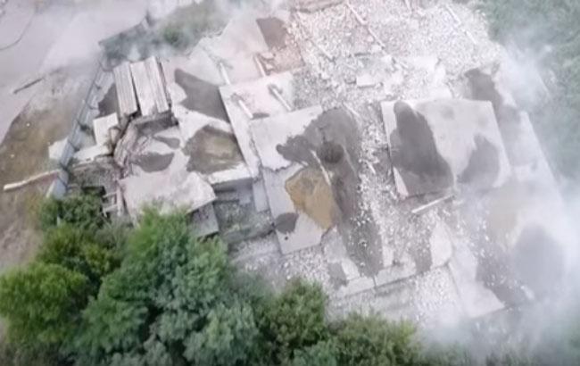 Подрыв пятиэтажки в Харькове / Кадр из видео YouTube-канала Новости Харькова