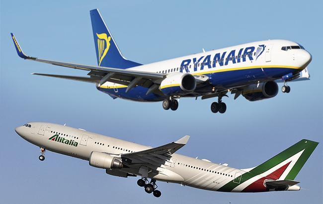 Фото: Ryanair запропонував купити Alitalia (колаж РБК-Україна)