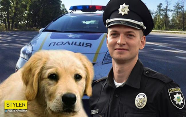 Фото: Патрульные и собака (Коллаж РБК-Украины)