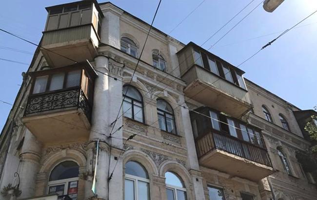 Фото: Здание в Киеве на Хорива (facebook.com/lissitsa)
