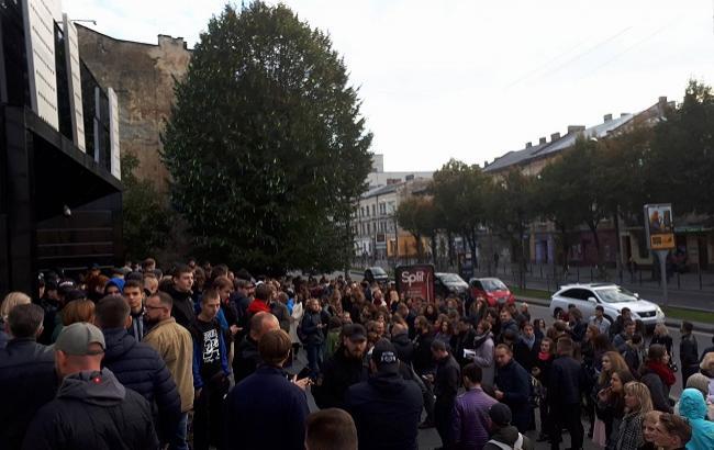 Фото: Отмена концерта во Львове (forpost.lviv.ua)