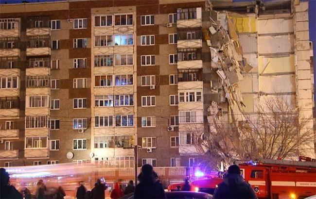 Фото: обрушение дома в Ижевске (twitter.com-5-tv.ru)