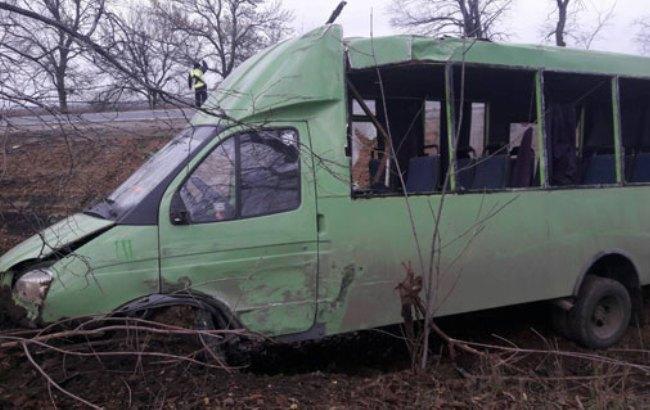 Фото: авария (отдел коммуникации полиции Полтавской области)