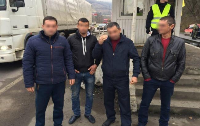 Фото: нелегалы (ГУ НП в Закарпатской области)
