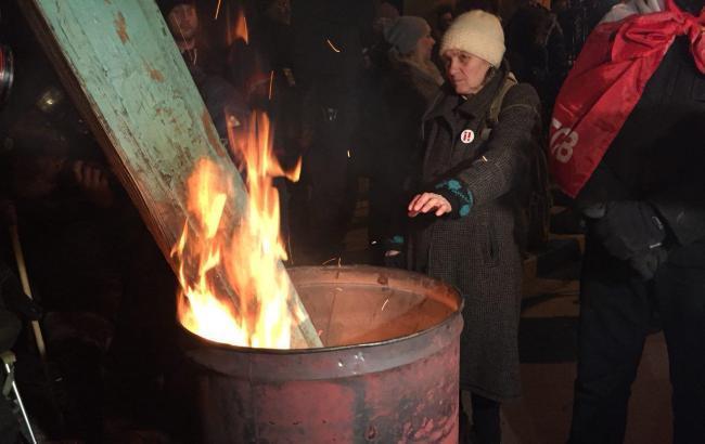Фото: ситуація біля управління СБУ (РБК-Україна)