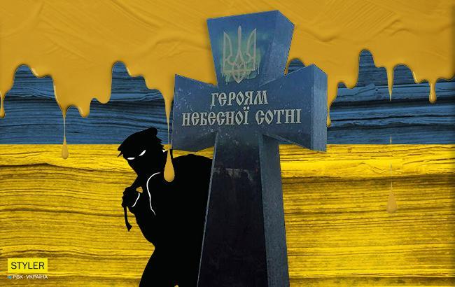 В Черкасской области вандалы осквернили памятный крест Героям Небесной Сотни (фото)