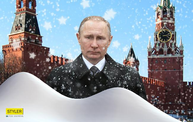 Фото: Москва в снегу (Коллаж РБК-Украины)