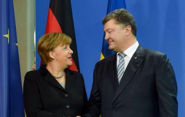 Фото: Петр Порошенко и Ангела Меркель (twitter.com/poroshenko)