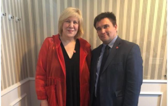 Фото: зустріч Павла Клімкіна і Дуні Міятович (mfa.gov.ua)