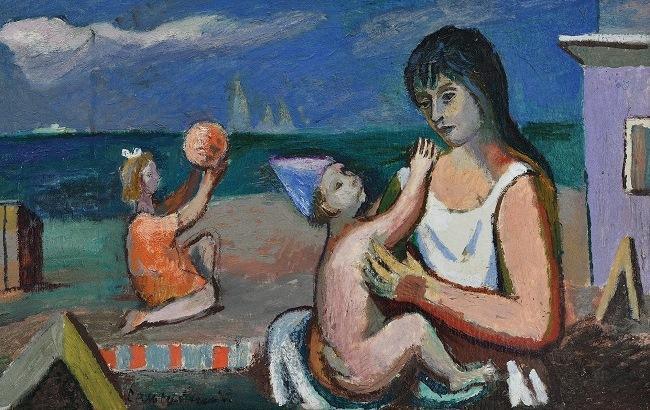 """""""Мати з дітьми на пляжі"""" (1980-ті) Романа Сельського"""
