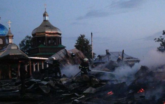 Фото: пожар в Ивано-Франковской области  (dsns.gov.ua)