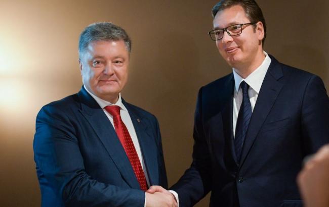Порошенко и президент Сербии обсудили вопросы сотрудничества между странами