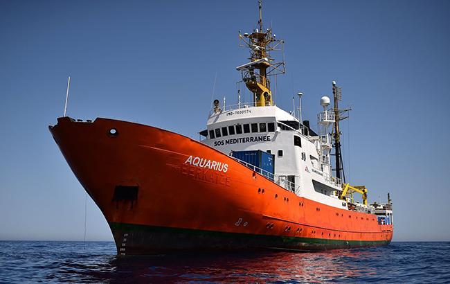 Фото: спасательное судно Aquarius
