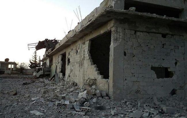 Фото: турецкая пекарня в провинции Идлиб после бомбежки
