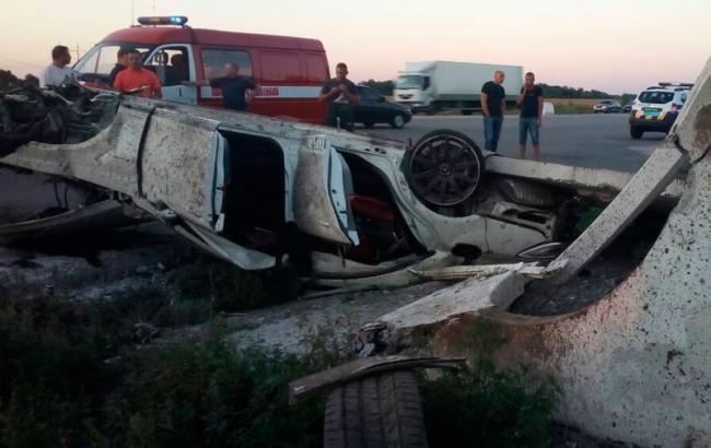 Фото: авария в Полтавской области pl.npu.gov.ua)
