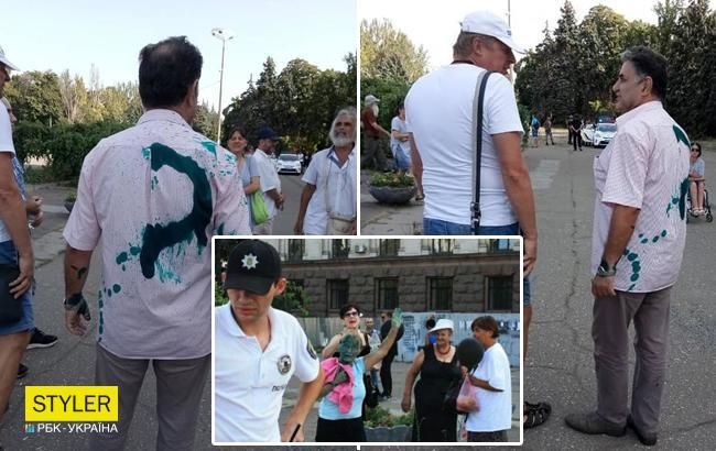 В Одессе неизвестные патриоты проучили поклонников Кобзона и Захарченко (фото)