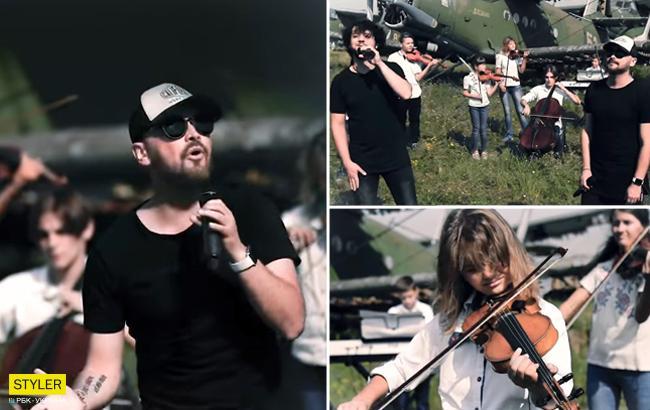 AVIATOR и юные запорожцы спели захватывающую дух песню на аэродроме (видео)