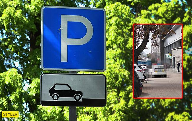 """В центре Киева полиция стала """"героями парковки"""" (фото)"""