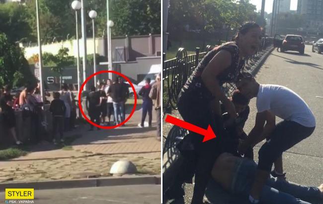 У Києві роми напали на поліцейського: зловмисника збила на смерть машина (відео)