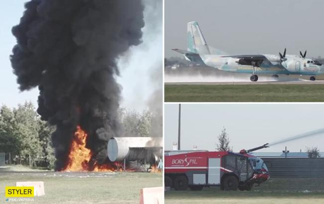 """Пожежа і аварійне приземлення: в """"Борисполі"""" ліквідували наслідки """"НП"""" (відео)"""