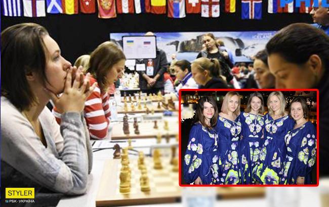 Украинские шахматистки впечатлили патриотичными нарядами на Олимпиаде в Грузии (фото)