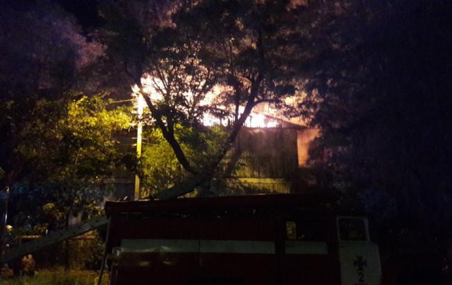 В Одессе горит санаторий