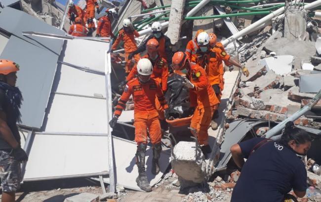 Фото: последствия землетрясения в Индонезии (twitter.com/Sutopo_PN)