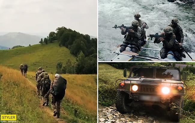 """""""Крізь вогонь та воду"""": українські військові показали гірську підготовку (вражаюче відео)"""