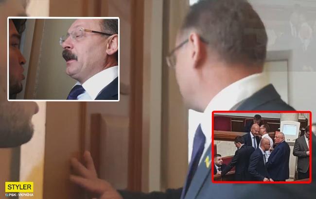 Олег Барна обругал журналиста матом прямо в Верховной Раде
