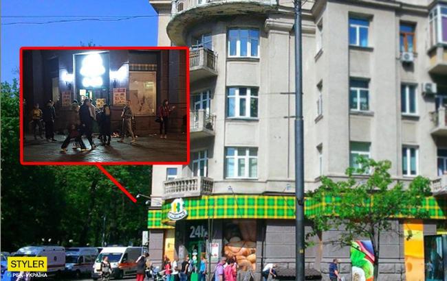 Дети-цветы жизни: В Киеве толпа подростков ограбила магазин