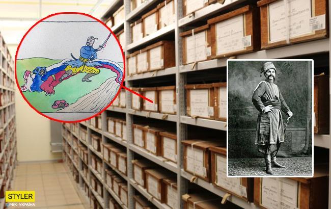 В архиве США обнаружили рисунок, посвященный украинцу