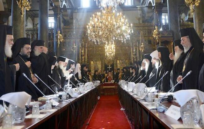 Фото: засідання Синоду Вселенського патріархату (risu.org.ua)