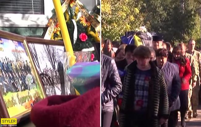 На Днепропетровщине сотни людей простились с погибшим на Светлодарской дуге бойцом 72-й бригады