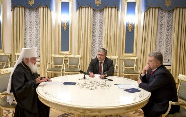 Фото: зустріч Порошенка та Макарія (president.gov.ua)