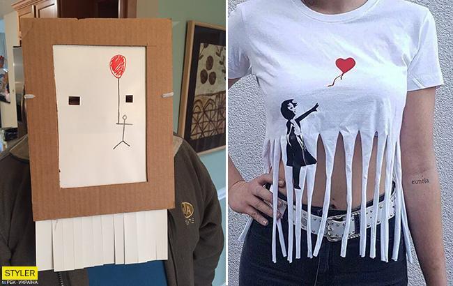 """Хэллоуин от Бэнкси: трюк с картиной вдохновил на создание """"саморазрушаюшихся"""" костюмов"""