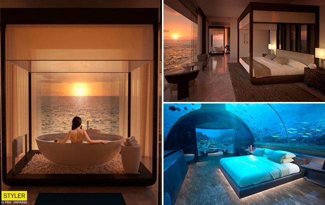 Первый в мире: на Мальдивах открылся подводный отель