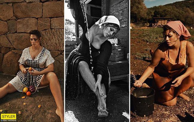 Сексапільна селянка: пишнотіла Ешлі Грем знялася в незвичайному фотосеті для Vogue