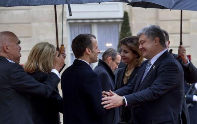 Фото: Петр Порошенко и Эммануэль Макрон (president.gov.ua)