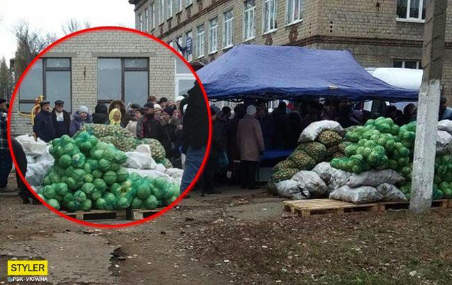 """""""Вибори голів """"ДНР"""" і """"ЛНР"""": жителів заманюють на вибори дешевими овочами"""