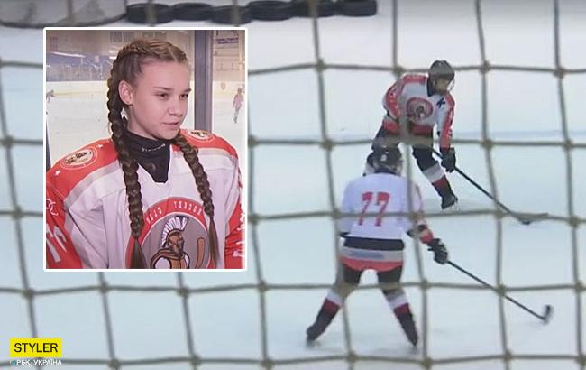Трус не грає у хокей: 13-річна українка буде грати в чоловічому чемпіонаті