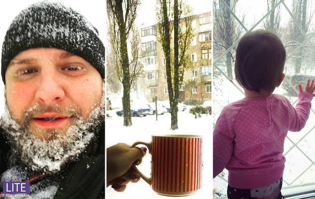 В Киеве выпал первый снег: самые яркие фото из Instagram