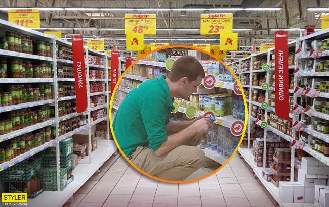 """У Запоріжжі працівник великого супермаркету """"хімічив"""" із водою для дітей: в мережі скандал"""