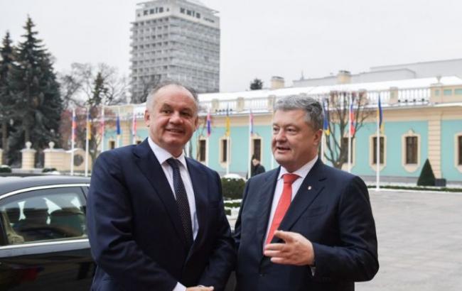 Порошенко проводит встречу с президентом Словакии